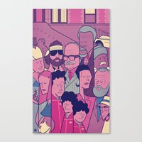 the royal tenenbaums Canvas Prints featuring The Royal Tenenbaums by Ale Giorgini