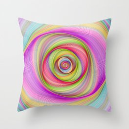 Magnetic storm Throw Pillow