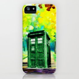 PAINTING TARDIS iPhone Case