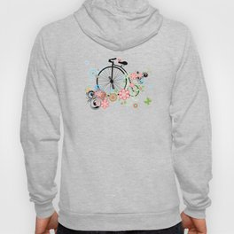 Bicycle with floral ornament Hoody