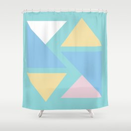 Triangle origami pastel pattern art Shower Curtain