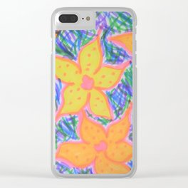 Refreshing Summer Flowers Clear iPhone Case