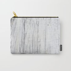 Scratched White Plaster and Charcoal Grey Lined Pattern Carry-All Pouch