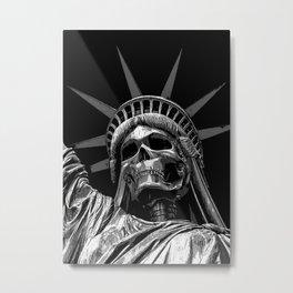 Liberty or Death B&W Metal Print