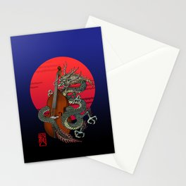 Dragon Contrabass Stationery Cards