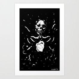 Worship the dark III Art Print