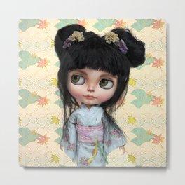 Kimono Girl by Erregiro Metal Print