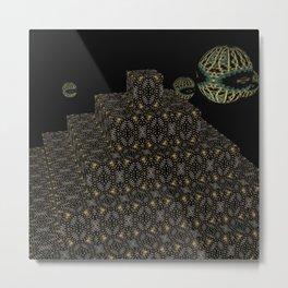 Pyramide Grotesque 34 Metal Print