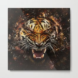 Tiger Roar Metal Print