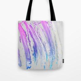 Lavender Magenta Brushstrokes on Light Gray Abstract Tote Bag