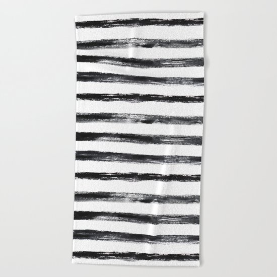 Grungy stripes Beach Towel