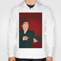 scarface Hoodies featuring Scarface by Tom Storrer