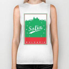 Sofia city, Bulgaria, poster, t-shirt Biker Tank