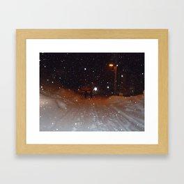 Figures in the Snow Framed Art Print
