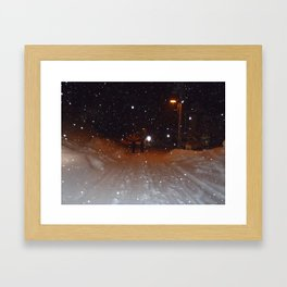 Figures in the Snow Framed Art Print