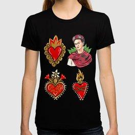 Sacred Hearts and Frida T-shirt