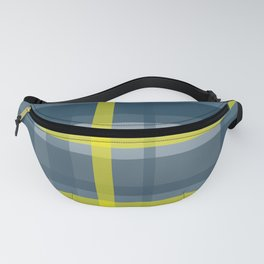 Blue and yellow plaid pattern Fanny Pack