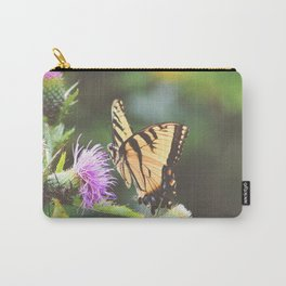 Eastern Tiger Swallowtail Butterfly on Thistle Photography Carry-All Pouch