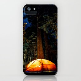 Camping At Night iPhone Case