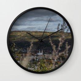 Quebec real autumn Wall Clock
