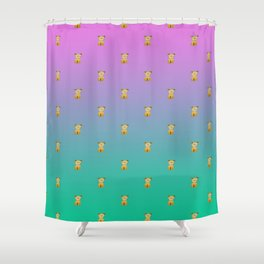 A thousand sitting dogs Shower Curtain