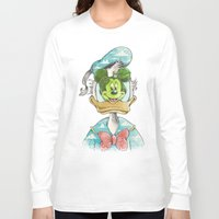 magritte Long Sleeve T-shirts featuring duck magritte by Alan Maia