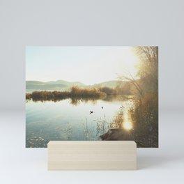 Autumn Lake Tranquility Mini Art Print