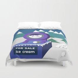 Eskimo Ice Cream Duvet Cover