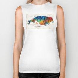 Colorful Sea Turtle By Sharon Cummings Biker Tank
