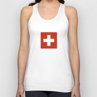 switzerland Tank Tops featuring Switzerland country flag by tony tudor