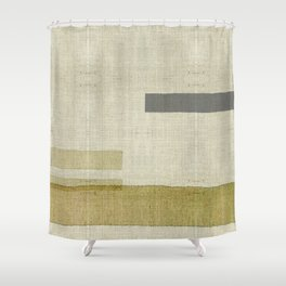 """Burlap Texture Natural Shades"" Shower Curtain"