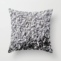 ice Throw Pillows featuring Ice by Stevyn Llewellyn