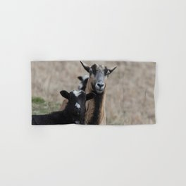 Black Goat and Barbados Blackbelly Sheep, No. 1 Hand & Bath Towel