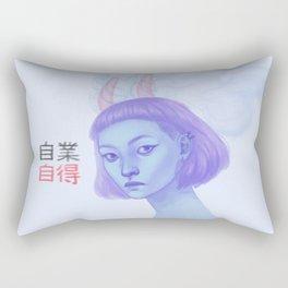 自業自得 Rectangular Pillow