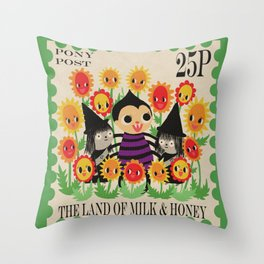 Postage Stamp Throw Pillow