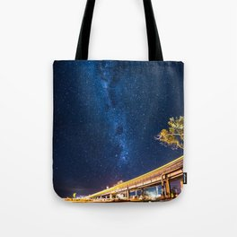 Milky Way Bridge Tote Bag