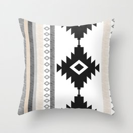 Pueblo in Tan Throw Pillow