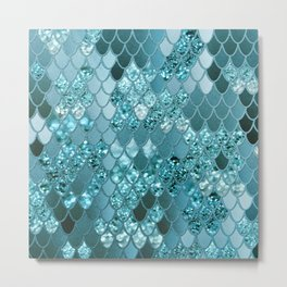 Mermaid Glitter Scales #4 #shiny #decor #art #society6 Metal Print