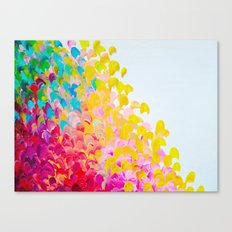 CREATION IN COLOR - Vibrant Bright Bold Colorful Abstract Painting Cheerful Fun Ocean Autumn Waves Canvas Print
