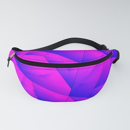 Pattern of purple and lilac triangles and irregularly shaped lines. Fanny Pack