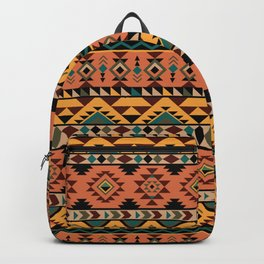 Ethnic colorful aztec pattern Backpack