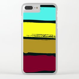 Color stripes Clear iPhone Case