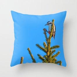 Christmas tree topper Throw Pillow