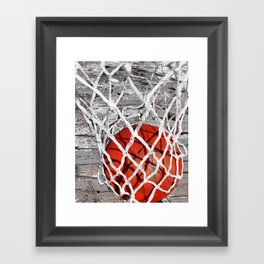 Basketball Art Framed Art Print