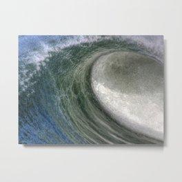 Hollow Breaking Ocean Wave Metal Print