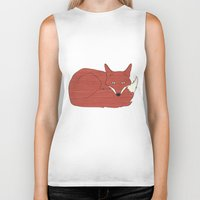 mr fox Biker Tanks featuring Mr. Fox by Elephant Trunk Studio