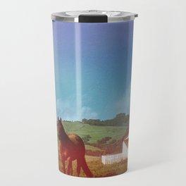 Horse in a Field Travel Mug