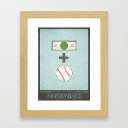 Moneyball - minimal poster Framed Art Print