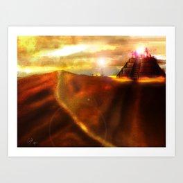 Temple of the Shadows, Ocean of Sand Art Print