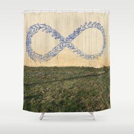 Tel Aviv Graffiti Photography - Infinity Sign Shower Curtain